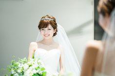 なりたい印象から選ぶ♡花嫁ヘアに《ティアラ》を着ける位置はどこが一番?にて紹介している画像 Wedding Make Up, Dream Wedding, Cute Hairstyles, Wedding Hairstyles, Headdress, Bridal Hair, One Shoulder Wedding Dress, Wedding Dresses, Hair Styles