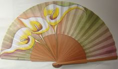 """ABANICOS PINTADOS A MANO """" DISIMUSA"""" Hand Held Fan, Hand Fans, Fan Decoration, Umbrellas Parasols, Pretty Hands, Alcohol Ink Art, Character Inspiration, Arts And Crafts, Victorian"""