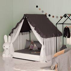 House Beds For Kids, Kid Beds, Diy Teepee Tent, Modern Kids Bedroom, Diy Wooden Projects, Kids Tents, Luxury Duvet Covers, Vintage Design, Room Inspiration