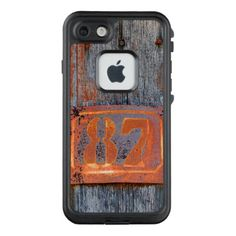 Old Grunge Rusty Metal House Number No. 87 Photo : LifeProof FRĒ iPhone 7 Case  $106.00  by Kathom_Photo  - cyo diy customize personalize unique