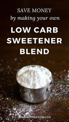 The Best Low Carb Sweetener Blend Save Money By Making It Yourself! - Low Carb Keto - Ideas of Low Carb Keto - Make your own low carb sweetener blend at home and save a ton of money! This blend is the best tasting of all the low carb sweeteners. Ketogenic Recipes, Diabetic Recipes, Ketogenic Diet, Low Carb Recipes, Keto Foods, Yummy Recipes, Healthy Recipes, Dessert Recipes, Recipies