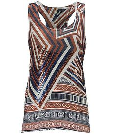 Cute Geometric and Sequin Tank Top $26.95
