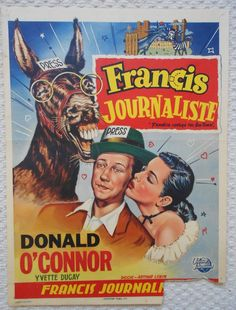FRANCIS COVERS THE BIG TOWN (1953) - Donald O'Connor - Universal-International - Belgin movie poster. 3