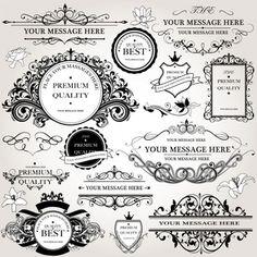 Coleção de logotipos ornamentais