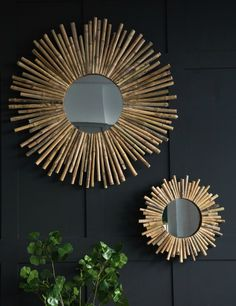 Bamboo Sunburst Mirror  | Rose & Grey