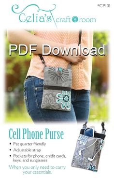 1c4aeefcf The Minimalist - PDF Sewing Pattern - Small Cross body Bag ...