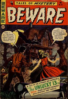 Comic Book Cover For Beware #13