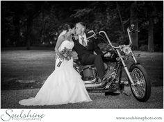 Love on a Harley, wedding photography