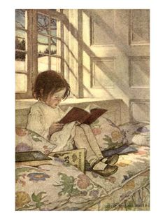 Chlld Reading on Couch, 1905 Giclee Print by Jessie Willcox Smith at Art.com