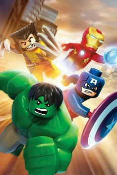 Lego avengers - New Ideas Lego Deadpool, Lego Hulk, Lego Lego, Lego Batman Wallpaper, Avengers Wallpaper, Lego Marvel's Avengers, Lego Marvel Super Heroes, Lego Marvel Games, Lego Zelda