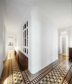 A loox architecture and interior design renovation of a 1908 heritage property in Barcelona. Originally built by the Catalan architect Josep Domènech i Estapà. Photo: Adrià Goula Sardà.