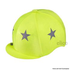Capz Lightz Lycra with Stars Be bright - be seen the stars are heat pressed on the cap and are washable Colour Fluorescent Yellow with reflective