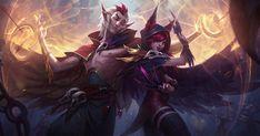 Amantes e rebeldes, Xayah e Rakan estreiam como uma dupla de atirador e suporte.