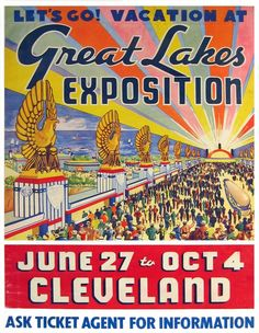 TR39 Vintage 1930/'s American Great Lakes Travel Poster A1 A2 A3