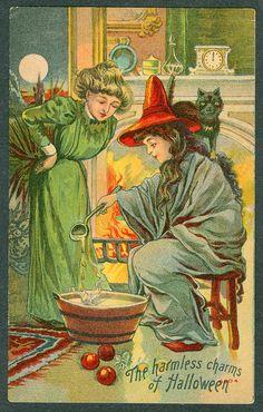 Vintage Halloween Greetings. The Harmless Charms...