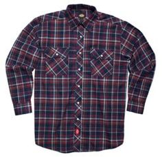 Pearl Snap Flannel Shirt              PRICE  $34.99 - $37.99   Item# D14009  Sale Price: $15.20- $37.99  - Regular fit  - Plaid flannel fabric  - Front chest pockets  - Pearl snaps