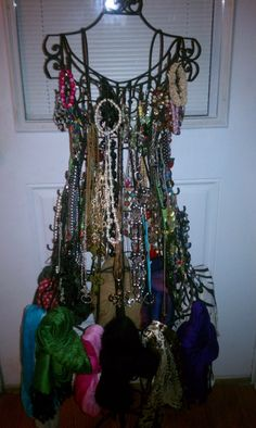 jewely and scarf dress.  Great way to display accessories