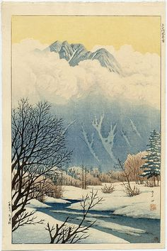 1932 - Ito, Takashi - Spring Snow at Jokochi- or Kamikochi