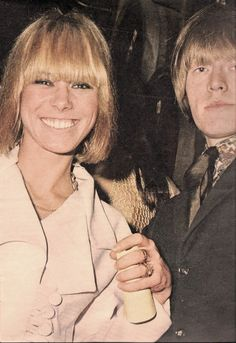 Anita Pallenberg and Brian Jones