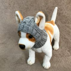 Pet Clothes Apparel Outfit Crochet Snow Hat Pullover от 2CROWNS