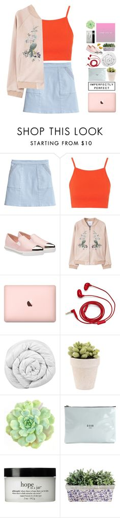 """""""pink queen"""" by lanadelnotyou ❤ liked on Polyvore featuring Topshop, Miu Miu, MANGO, FOSSIL, Brinkhaus, Golden Goose and philosophy"""