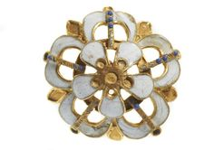 Museum of London | free museums in London | things to do in London;  ENAMELED BUTTON.