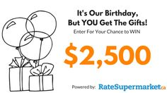I just entered to win $2,500 cash from RateSupermarket.ca!  You should too!