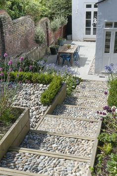 40 Fascinating Side Yard And Backyard Gravel Garden Design Ideas That Looks Cool is part of Sloped garden - Are you interested in having a wildlife habitat in your back yard next spring The time to think about doing […] Small Backyard Gardens, Back Gardens, Small Gardens, Backyard Landscaping, Outdoor Gardens, Landscaping Ideas, Modern Gardens, Backyard Privacy, Pebble Garden