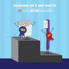 Les compartimos este consejo: primero usa tu hilo dental y luego cepilla tus dientes. De esa manera, tu cepillado será más eficiente.