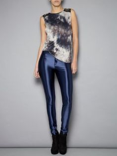 Glamorous Navy Disco pant legging Khaki - House of Fraser #Alliwantforchristmasfromhof and @houseoffraser