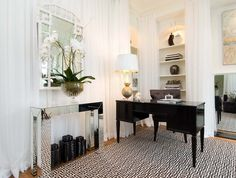 """Contemporary Home Office by Tiffany Eastman Interiors, LLC ... Art Deco is not really """"me"""" but I do love it. -rhc"""