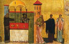 Dettaglio del Dossale di San Francesco a Pisa.  Dalla chiesa di San Francesco a Pisa.  1255. Museo Nazionale San Matteo a Pisa