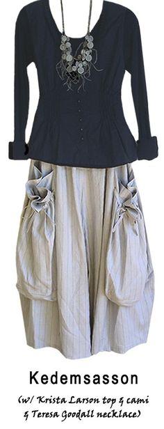 krista larson clothes and necklace by teresa goodall....reépinglé par Maurie Daboux ❥•*`*•❥