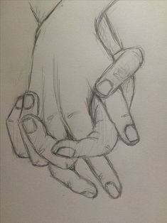 Practice sketch holding hands 4  - pinkishcoconut #drawingsideasHands