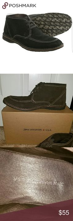 John Varvatos Men's Hipster Suede Chukka John Varvatos hipster suede chukka in espresso brown. Size 12 only been worn once in very good condition. John Varvatos  Shoes Chukka Boots