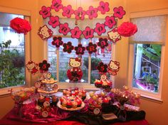 Hello Kitty Candy/Dessert Buffet for Kyara's 5th Bday