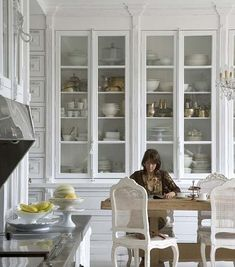kitchen storage inspiration - we should do this with our 12-foot ceilings by josefa