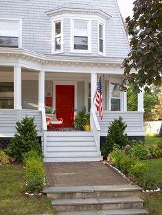 painted front door bhg