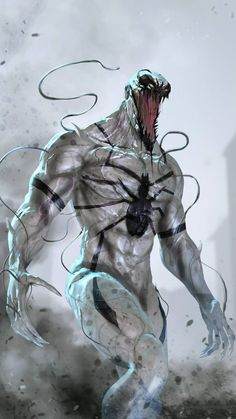 One of Marvel's most enigmatic, complex and badass characters comes to the big screen, starring Academy Award-nominated actor Tom Hardy as the lethal protector Venom. Comic Book Characters, Comic Book Heroes, Marvel Characters, Comic Character, Comic Books Art, Comic Art, Marvel Venom, Marvel Villains, Marvel Vs