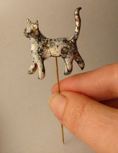 Cat Stick Pin.