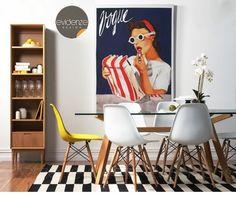Cadeira Eames DSW Eiffel Branca DKR Wood