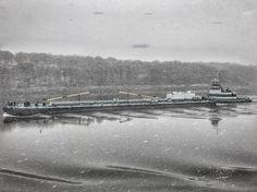 Old man winter shows his face upon the Hudson. Sea Photo, Old Men, Internet, Winter, Face, Winter Time, Faces, Facial