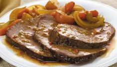 McCormick's Bag 'n Season® Pot Roast Recipe: Savor the homemade taste of tender pot roast and vegetables. The roasting bag makes the clean up quick and easy. Pot Roast Recipes, Meat Recipes, Food Processor Recipes, Cooking Recipes, Low Sodium Recipes, Greek Cooking, Greek Recipes, I Foods, Carne