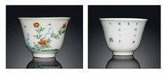 A Famille verte 'Month' cup, Qing dynasty (1644-1911). Photo Christie's Image Ltd 2014