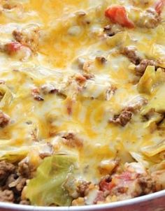 One-Pot Cabbage Casserole. Use ground turkey and brown rice.