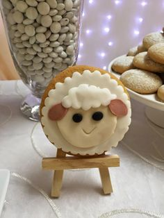 Little Lamb Boys Baby Shower Themed Party Cookie Ideas