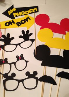 20 pc Mickey Mouse Photobooth Props Disney by InspiredbyLilyMarie