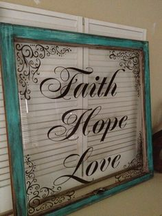 cricut vinyl crafts on old windows Old Window Projects, Shutter Projects, Old Window Frames, Old Window Ideas, Old Window Art, Window Pane Decor, Window Signs, Do It Yourself Furniture, Vintage Windows