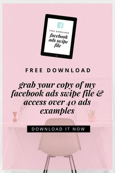 Access my Facebook Ads Swipe File via our latest blog post & get access to over 40 ad examples! Business Marketing Strategies, Social Media Marketing Business, Facebook Business, Facebook Marketing, Online Business, Business Tips, Digital Marketing, Best Facebook, How To Use Facebook
