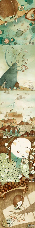 法国女插画师Isabelle Demarly的作品,诉说着每一个女孩心里都会有的无数秘密,还有我们儿时的疯狂事情,天真但是又经常闯祸,无知但是却快乐无比。